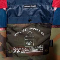 Packable Travel Tote (W Camo/Navy/Red)