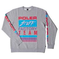 【POLER/ポーラー】FACTORY TEAM CREW - GRAY HEATHER