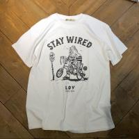 【LOV/ロブ】 STAY WEIRD S/S TEE (WHITE)