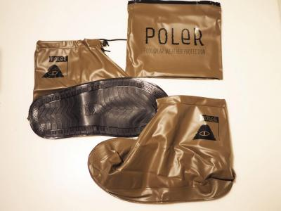 【POLER/ポーラー】SUMMIT SHOES RAINCOVER(OLIVE)/シューズカバー
