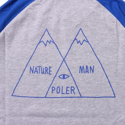 【POLER/ポーラー】7/10 VENN DIAGRAM RAGLAN TEE - BLUE