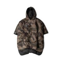 【POLER】THE REVERSIBLE CAMP PONCHO-BLACK/CAMO/ポンチョ