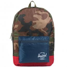 Packable Daypack (W Camo/Navy/Red)