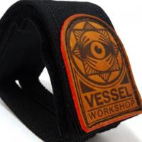 【即出荷】VESSEL Pedal Straps  (Black/leather patch)