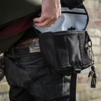 【即出荷】VESSEL Hip Pouch - Zip Stash  (Black)