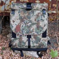 Rolltop Courier Pack  (French Woodland Camo)