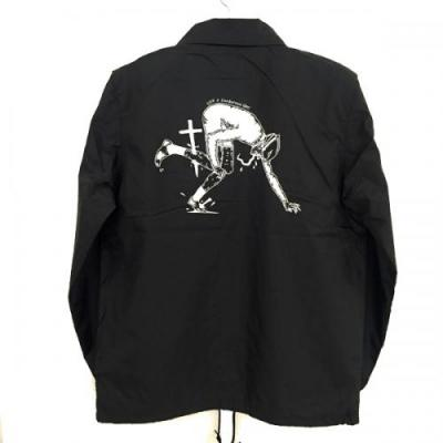 "【LOV】 COACH JACKET ""LOCAL SUPPORT"" (BLACK/WHITE)"