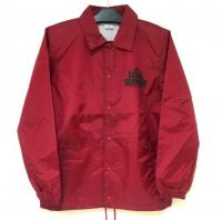 "【LOV】 COACH JACKET ""LOCAL SUPPORT"" (BURGUNDY/BLK)"