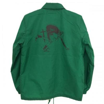"【LOV】 COACH JACKET ""LOCAL SUPPORT"" (GREEN/BLK)"
